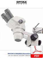 Mikroskopy stereoskopowe Optika