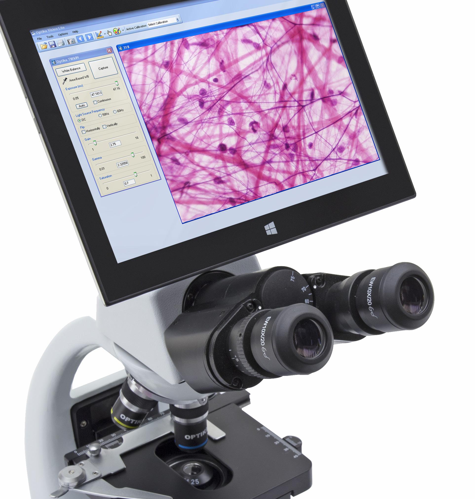 Mikroskop z ekranem dotykowym Optika B-190