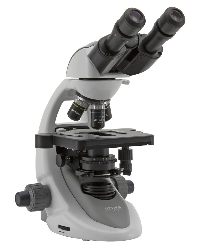 Biologiczny mikroskop laboratoryjny z nasadką binokularową