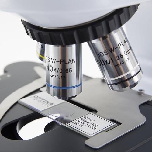 Mikroskop laboratoryjny Optika B-510 obiektywy