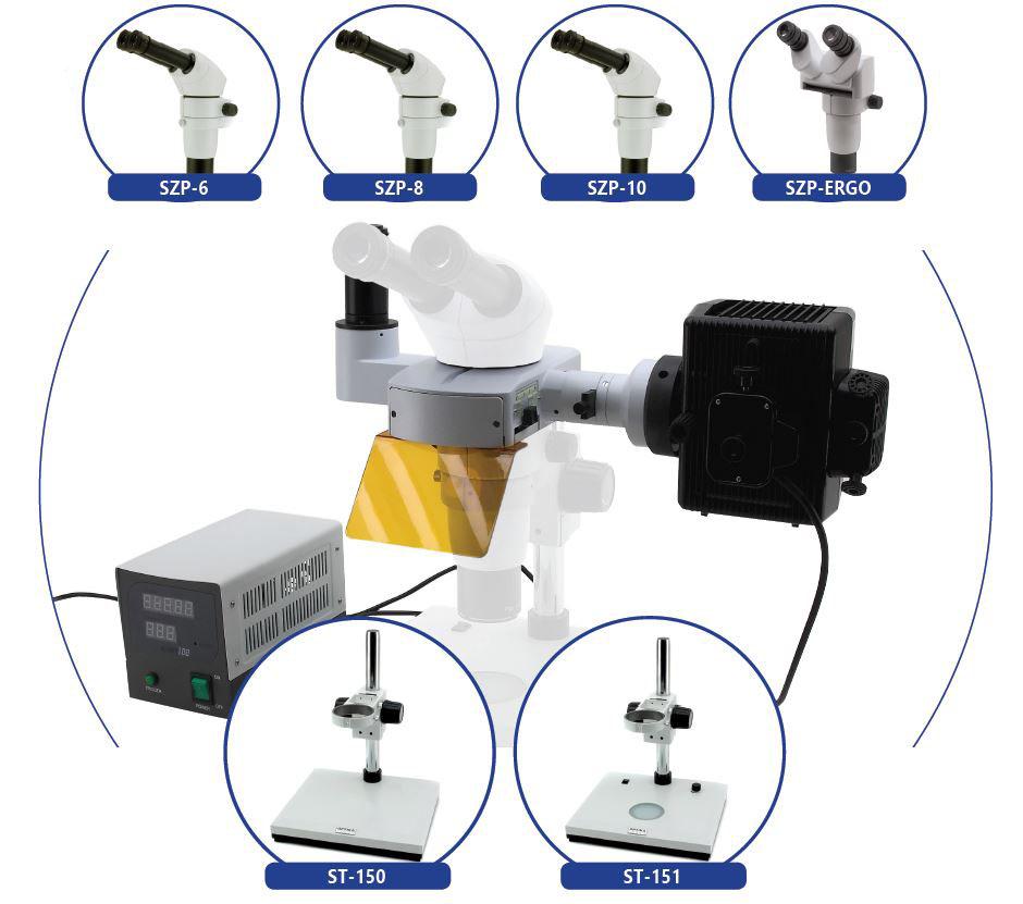 Stereoskopowy mikroskop fluorescencyjny